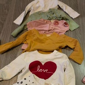 Bundle of shirts and 2 sweaters